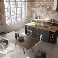 industriele gietvloer keuken