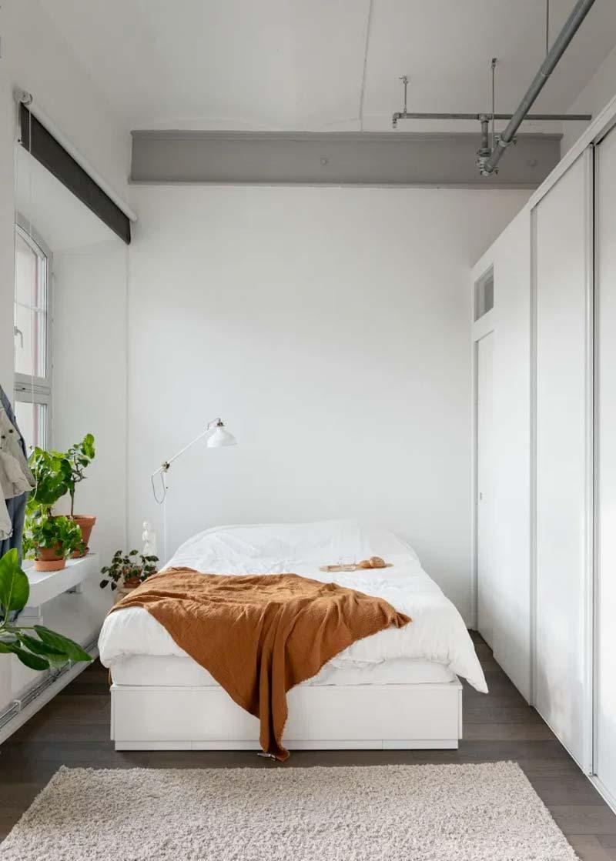 industriele kleine slaapkamer