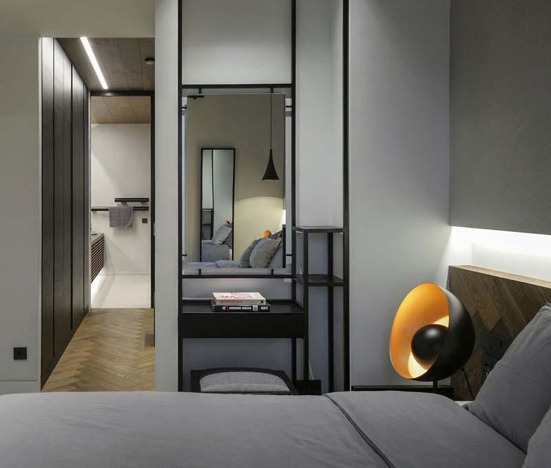 inloopkast tussen slaapkamer en badkamer
