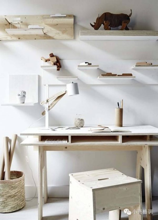 inspirerende werkplek houten bureau