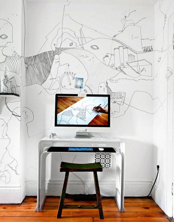inspirerende werkplek tekenaar