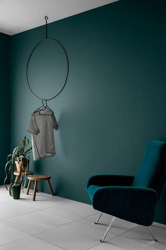 Interieur kleur teal in interieur
