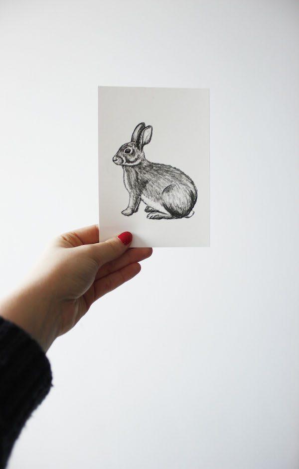 kaartje konijn