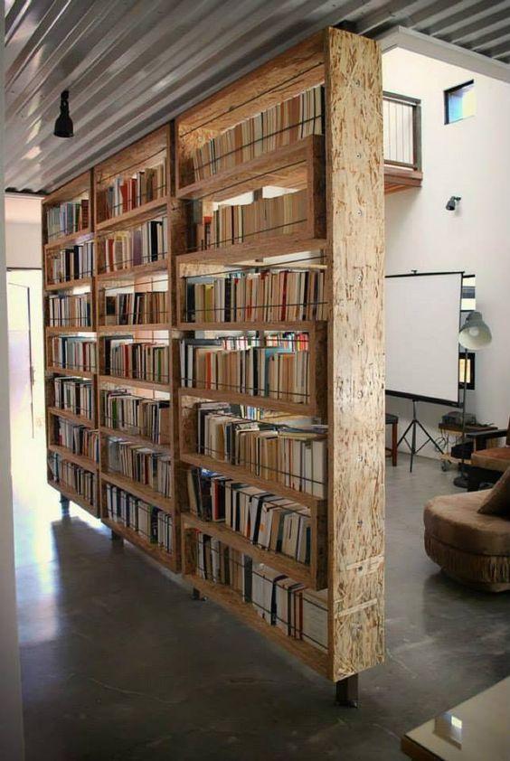 kamerschermen boekenkast