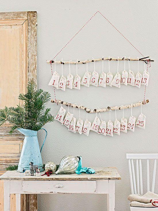 kersttak versieren advent kalender
