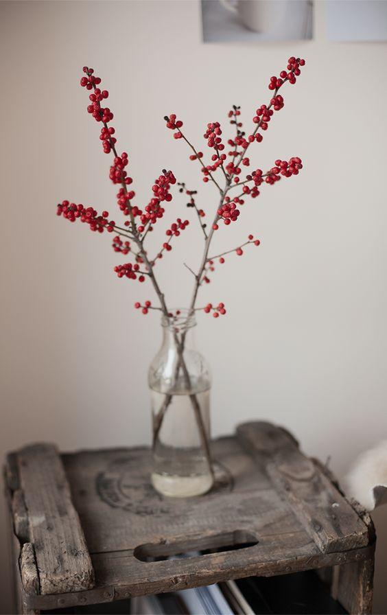 kersttak versieren rode besjes