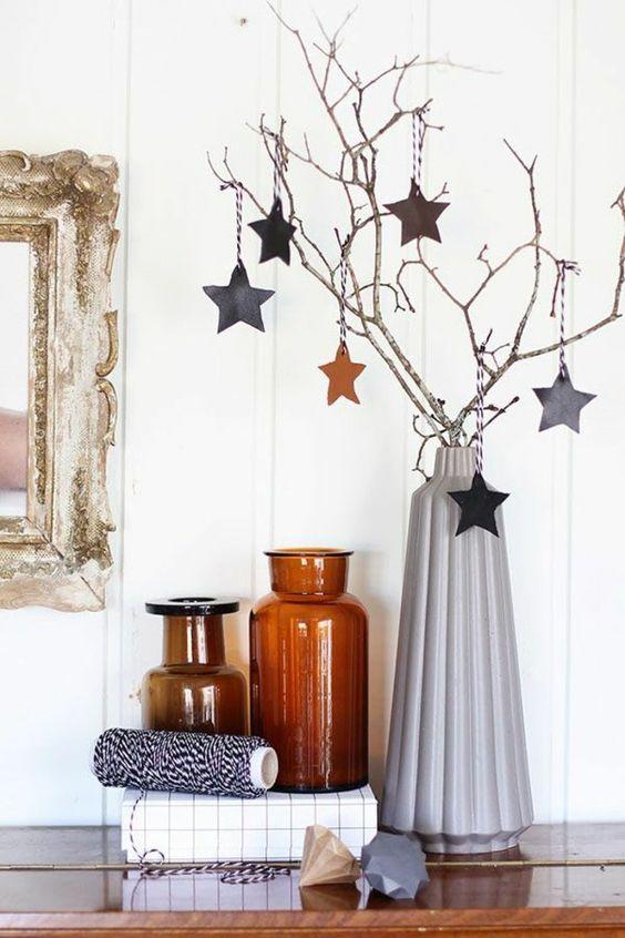 kersttak versieren sterren