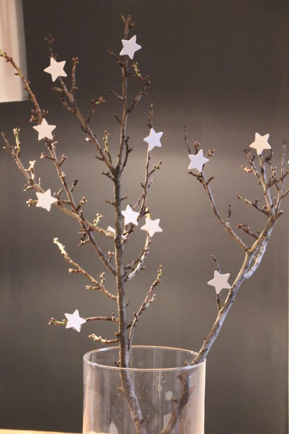 kersttak versieren met sterren