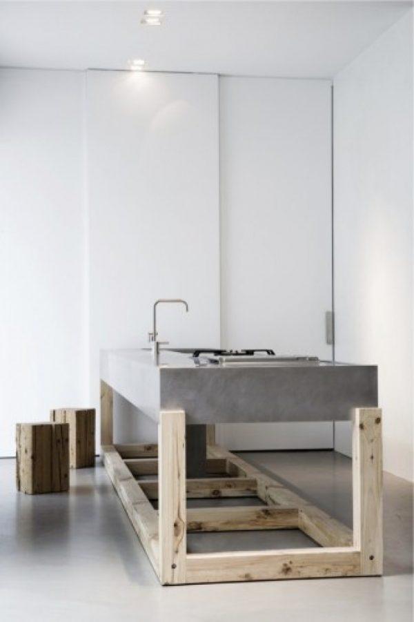 keuken eiland beton