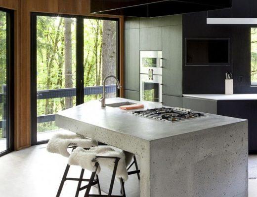 keuken eiland beton zwart