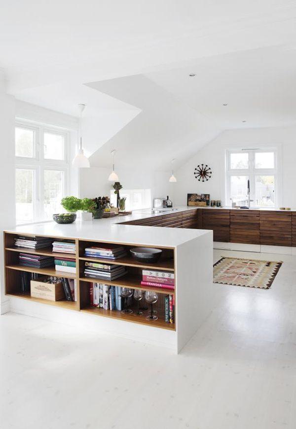 keuken eiland boekenkast