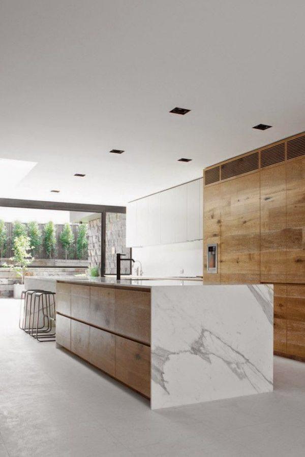 keuken eiland marmer