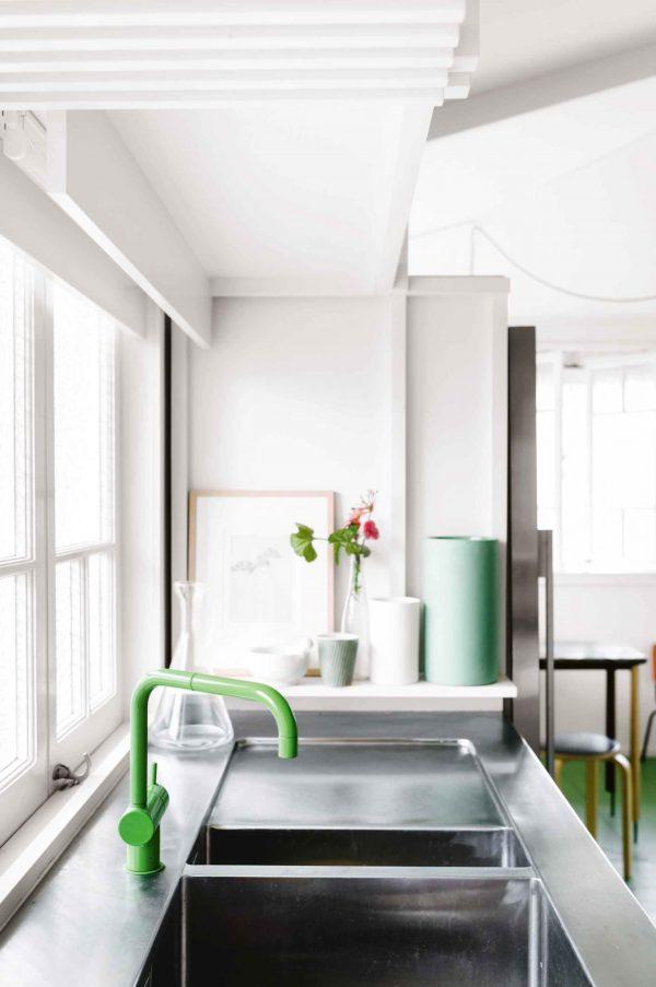 keuken groene kraan
