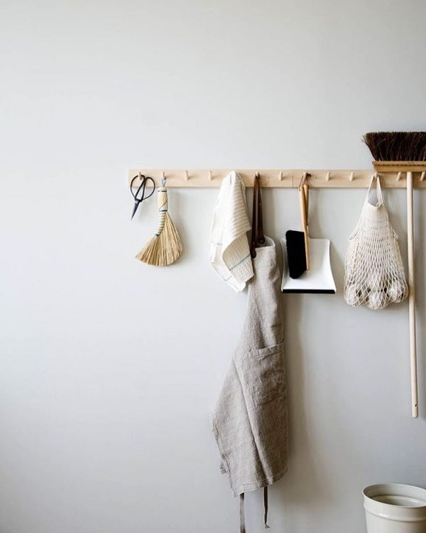 keuken houten kapstok