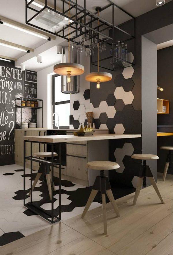 keuken houten tegel vloer