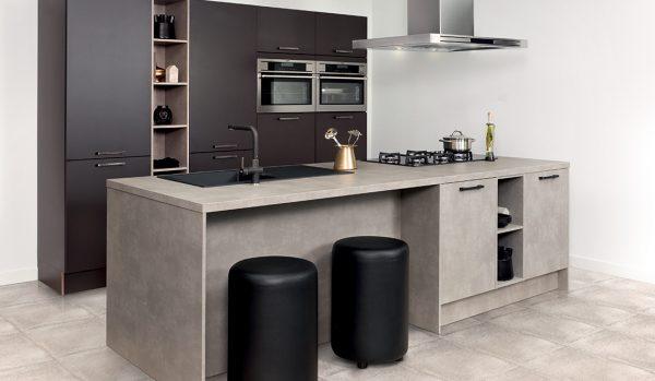 keukenwerkbladen beton bruin