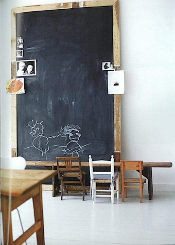 kindertekeningen krijtbord interieur
