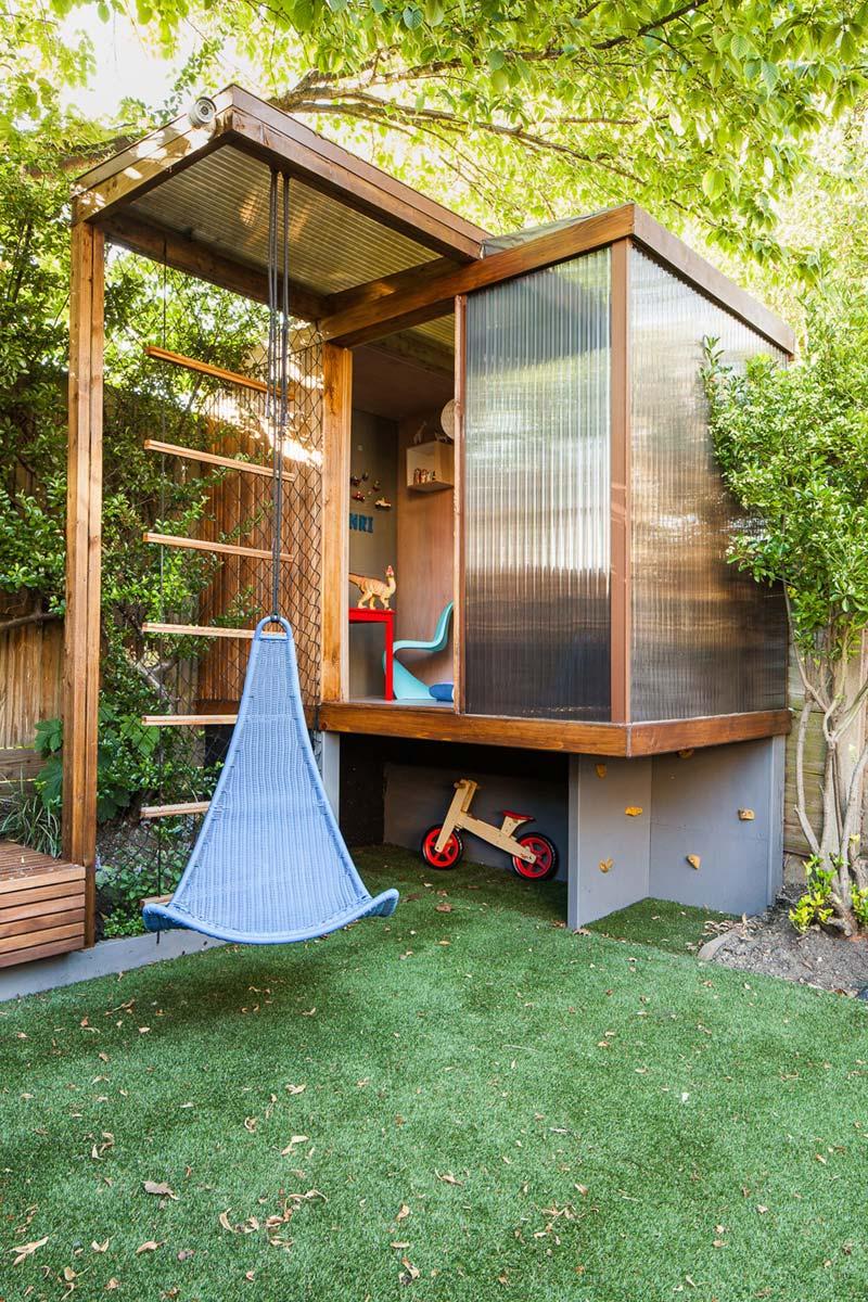kindvriendelijke tuin speelhuis