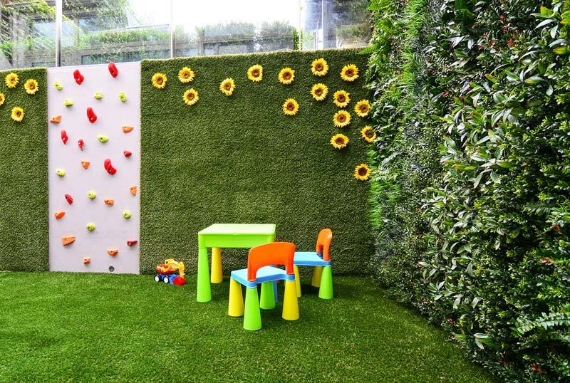 kindvriendelijke tuin tips klimwand