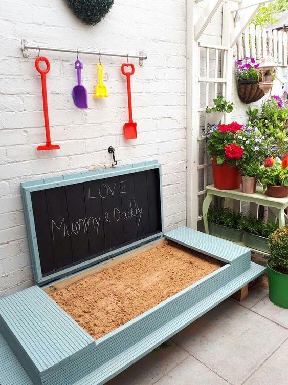 kindvriendelijke tuin tips zandbak