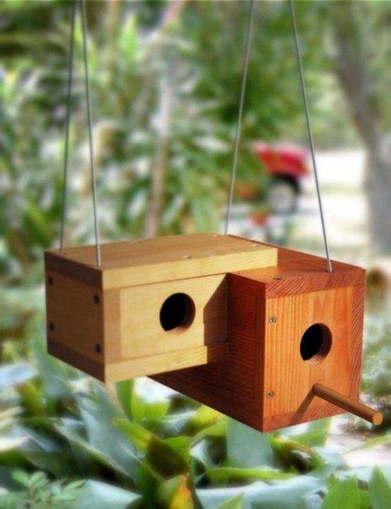 kindvriendelijke tuin vogelhuisje