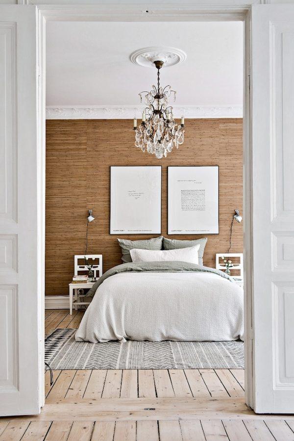 klassiek scandinavische slaapkamer