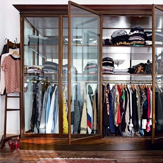 kleding glas slaapkamer