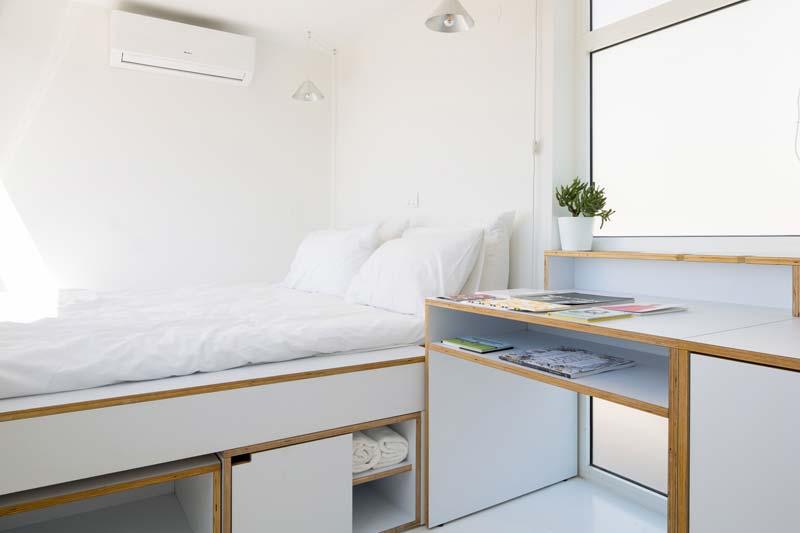 klein appartement bed op maat
