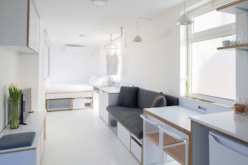 Shoebox apartment - klein appartement van 15m2