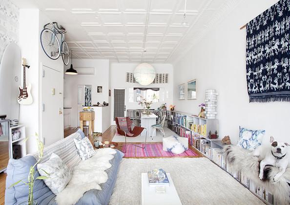 klein kantoor woonkamer