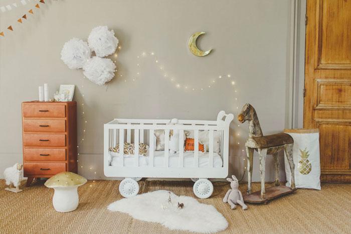 Kleine babykamer decoratie