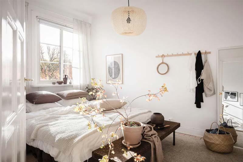 kleine slaapkamer bank voeteneinde