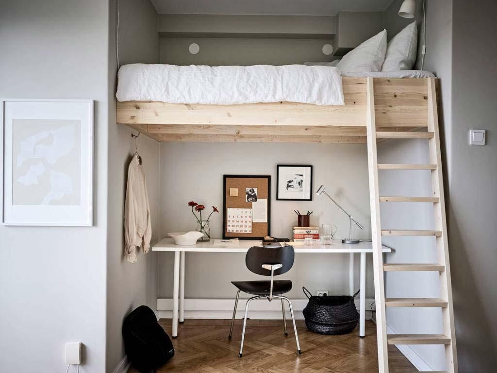 kleine slaapkamer hoogslaper