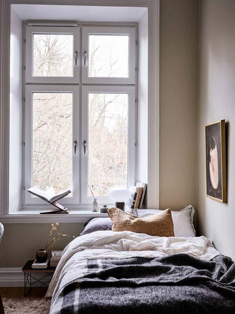 kleine slaapkamer inrichten bedlinnen