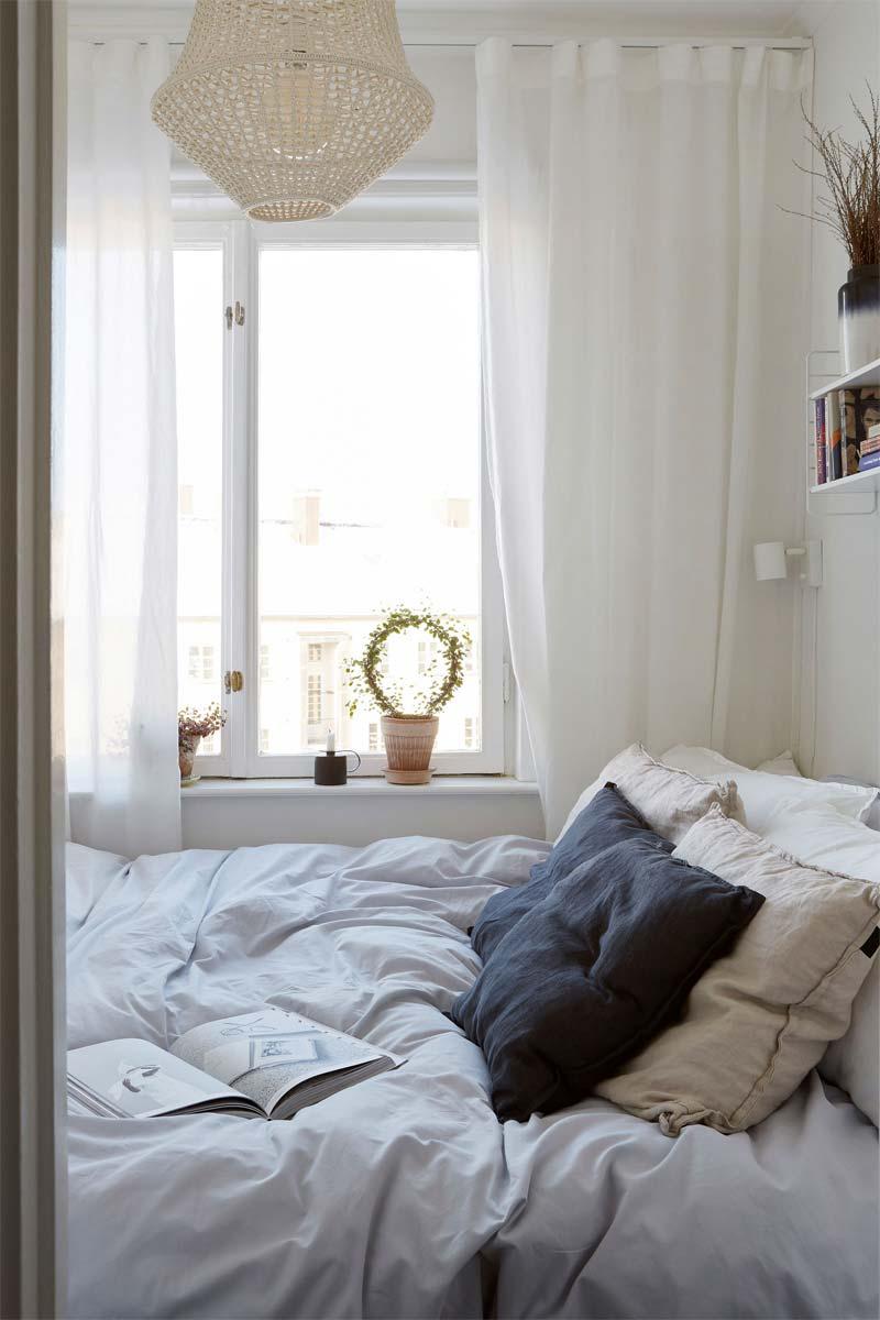 kleine slaapkamer licht