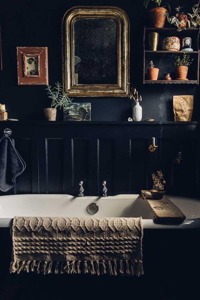 kleine vintage barok spiegel badkamer