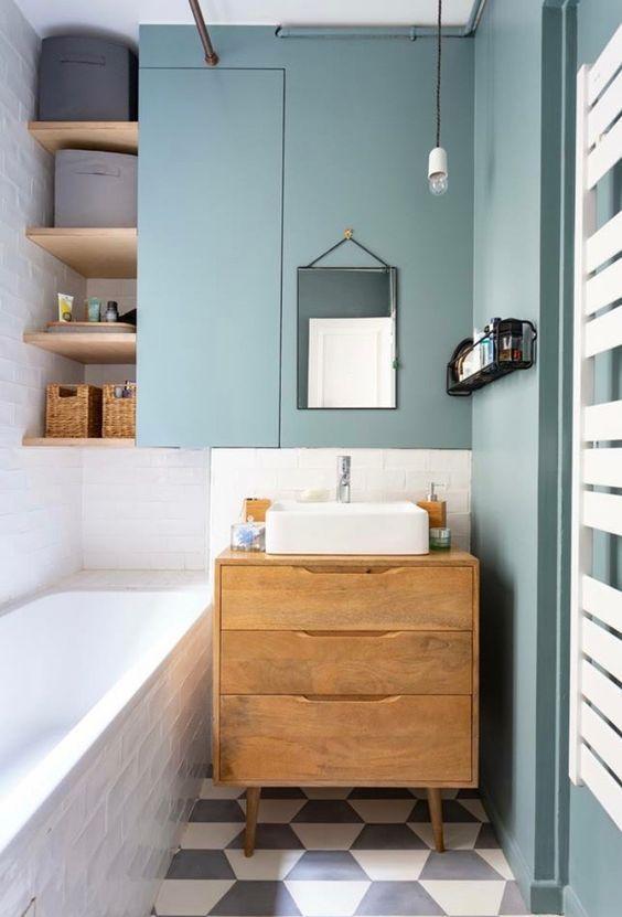 kleine vintage spiegel badkamer