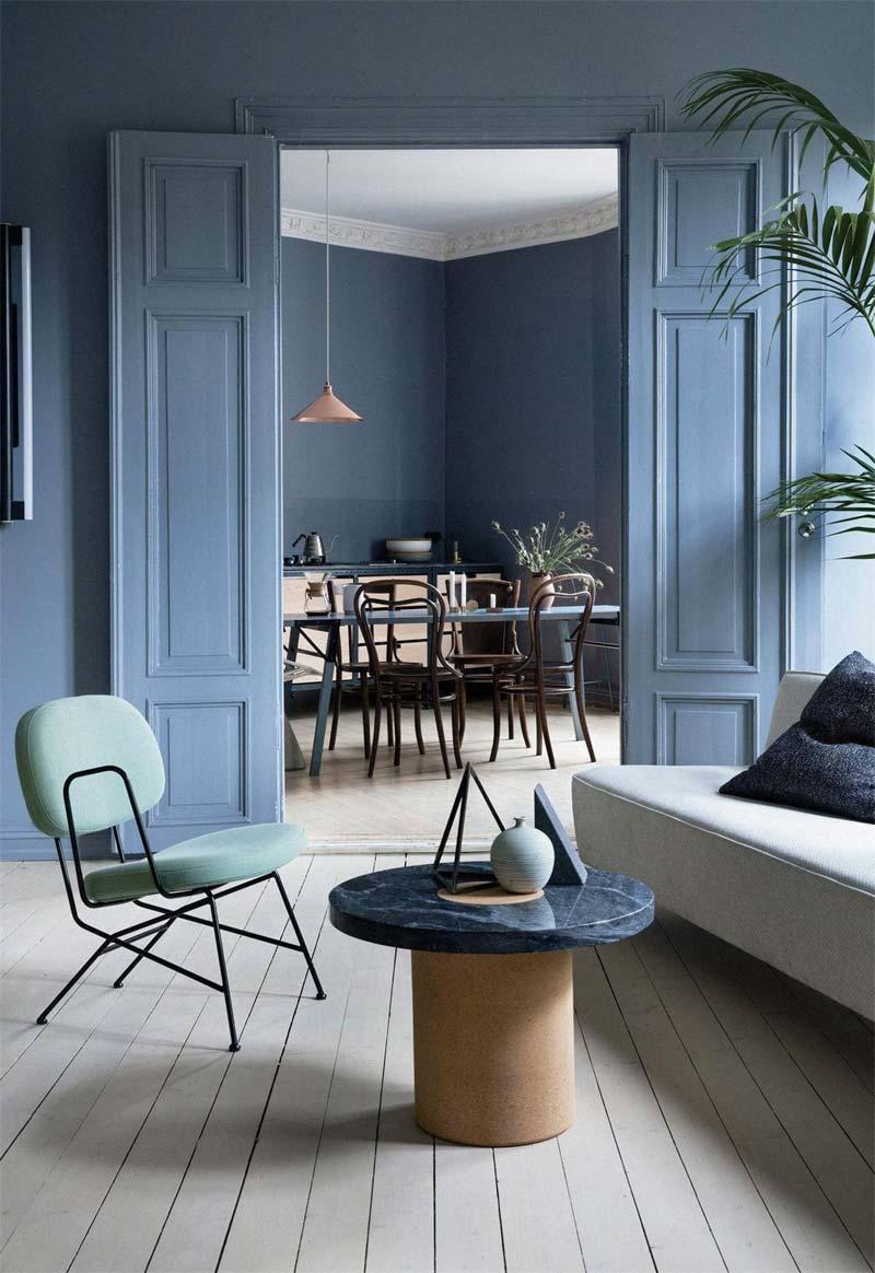 kleur van het jaar 2020 chinese porcelain blauwe muren interieur