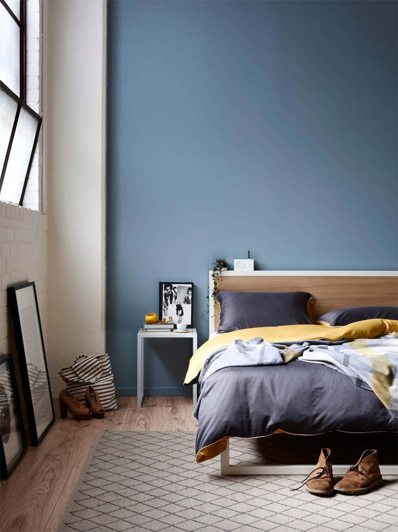kleur van het jaar chinese porcelain slaapkamer