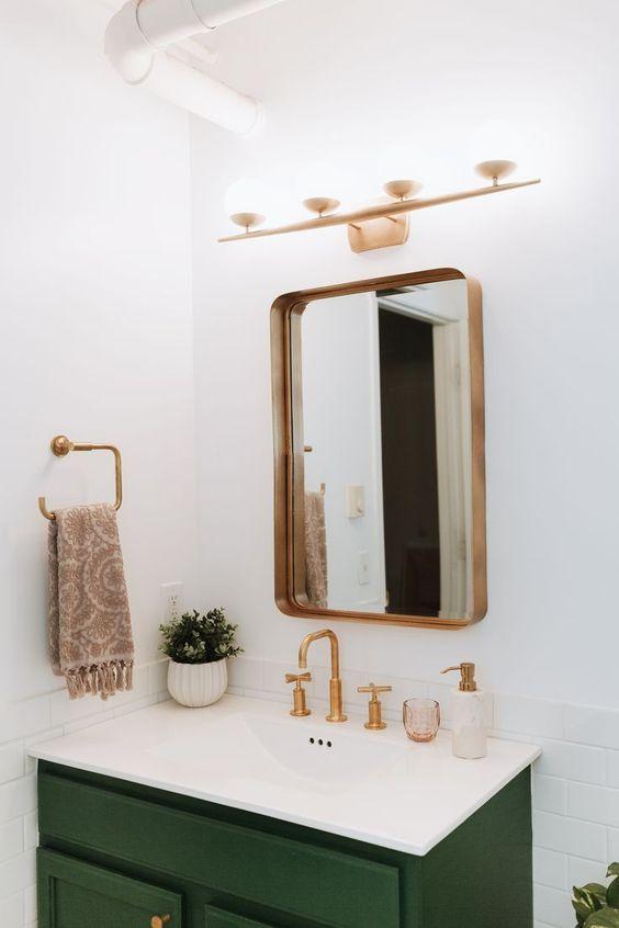 koperen badkamerspiegel