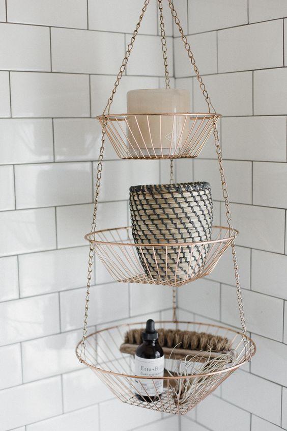 koperen hanger badkamer