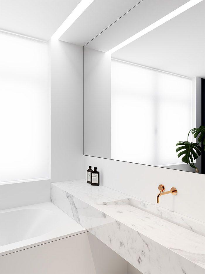 Koperen kraan badkamer chic