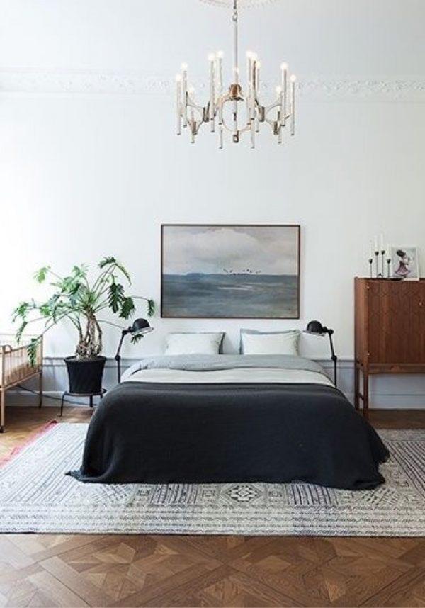 kroonluchter klassiek slaapkamer