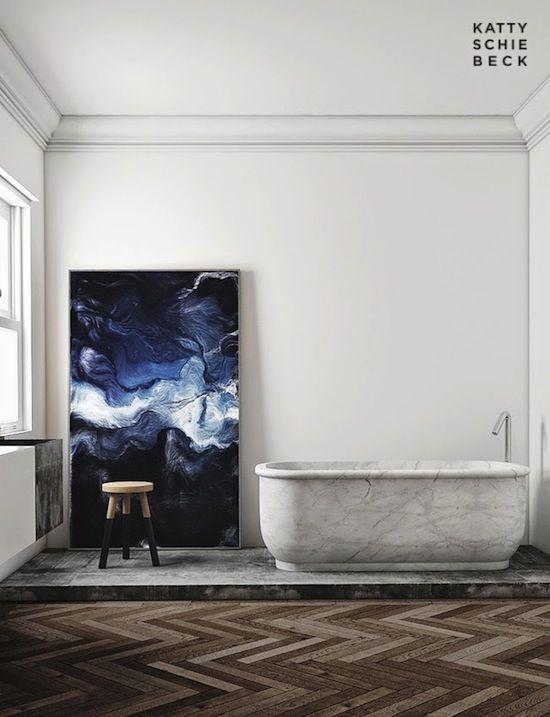 kunst badkamer