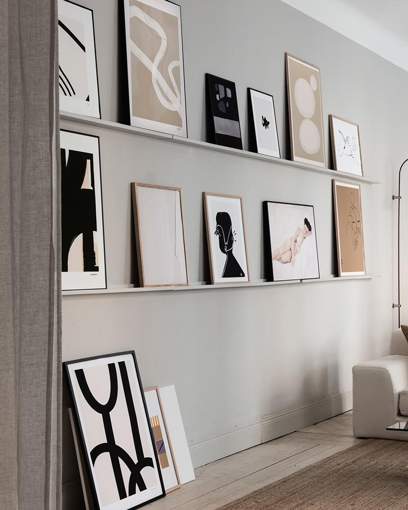 kunst lijsten schilderijplank collage