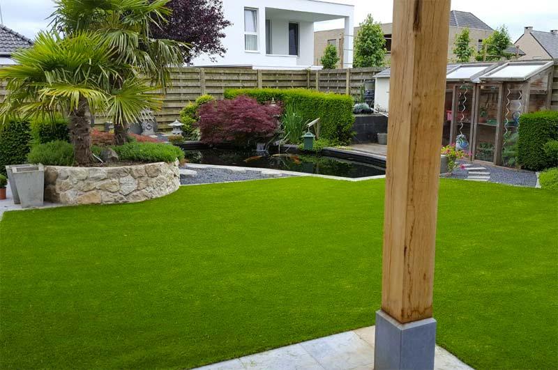 kunstgras exotische tuin