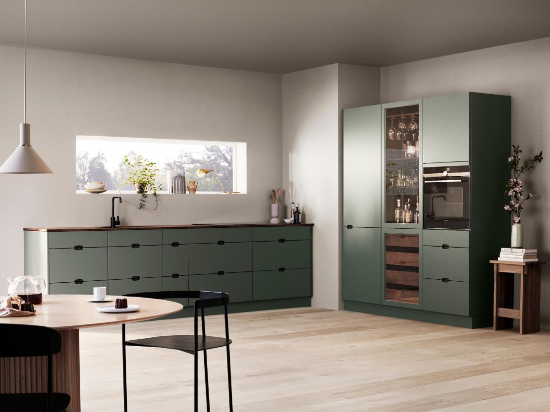 Kvik liet zit voor het ontwerp van de Ombra keuken inspireren door de weelderige groene Deense natuur.