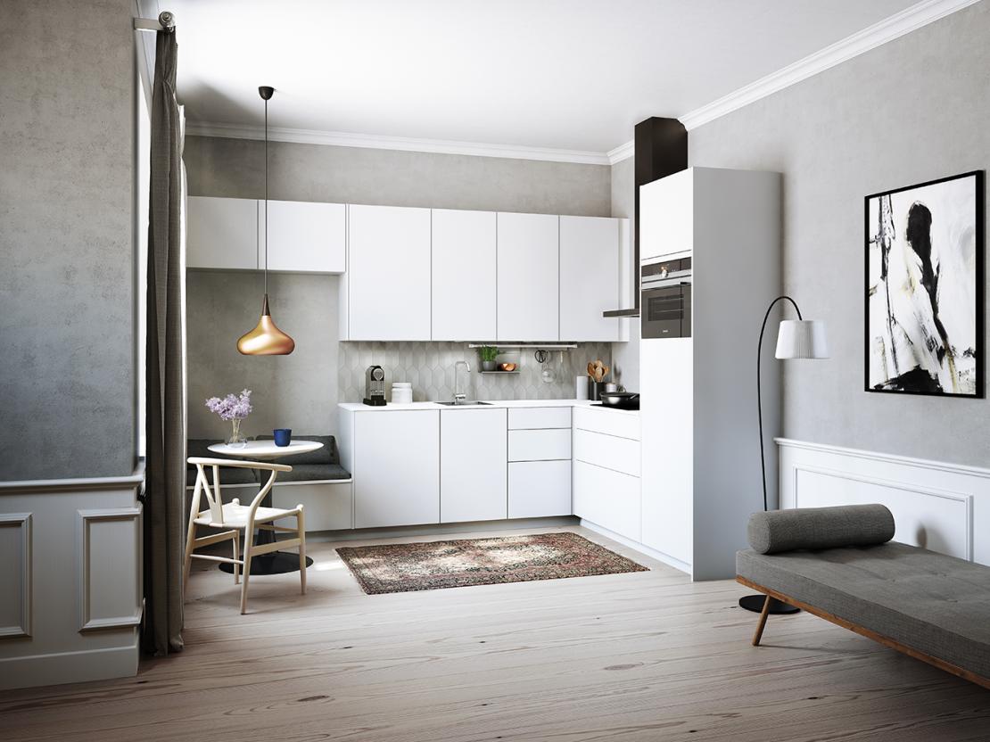 De Kvik Senti keuken ziet er niet alleen super mooi en strak uit, maar is ook voorzien van de geïntegreerde Touch&Slide, waardoor alles handsfree is!