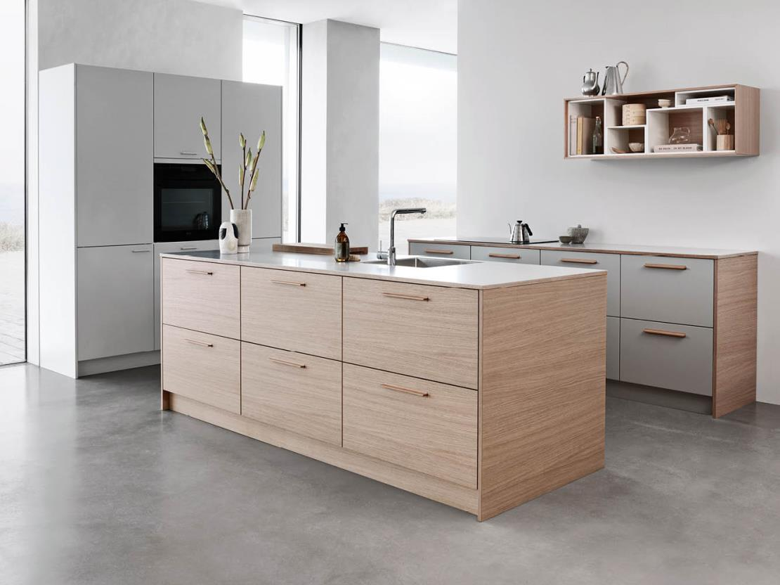 De Kvik keuken Tacto light oak is de perfecte keuze als je van een houten keuken houdt