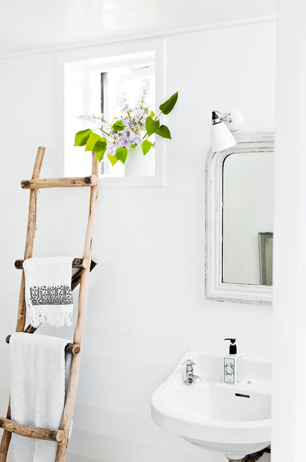 Ladder in de badkamer - THESTYLEBOX